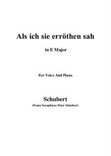 Als ich sie erröten sah (When I Saw Her Blush), D.153: E Major by Franz Schubert