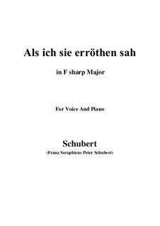 Als ich sie erröten sah (When I Saw Her Blush), D.153: F sharp Major by Franz Schubert