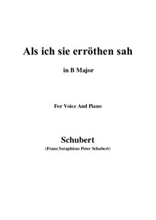 Als ich sie erröten sah (When I Saw Her Blush), D.153: B Major by Franz Schubert