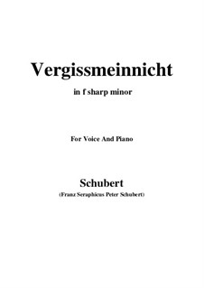 Vergissmeinnicht (Forget-Me-Not), D.792: F sharp minor by Franz Schubert