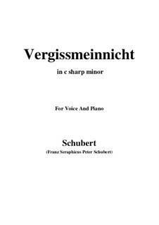 Vergissmeinnicht (Forget-Me-Not), D.792: C sharp minor by Franz Schubert