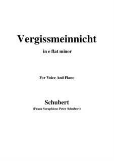 Vergissmeinnicht (Forget-Me-Not), D.792: E flat minor by Franz Schubert