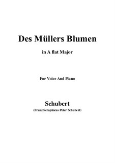 No.9 Des Müllers Blumen (The Miller's Flowers): For voice and piano (A flat Major) by Franz Schubert