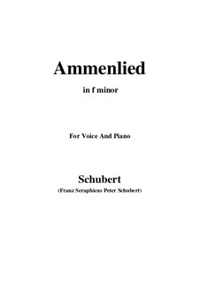 Ammenlied (The Nurse's Song), D.122: F minor by Franz Schubert