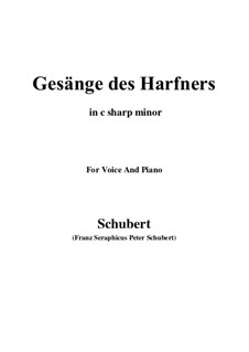 An die Türen (I will creep up to the doors): For voice and piano (c sharp minor) by Franz Schubert