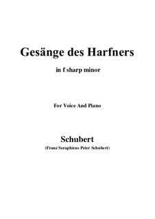 An die Türen (I will creep up to the doors): For voice and piano (f sharp minor) by Franz Schubert