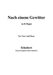 Nach einem Gewitter (After a Thunderstorm), D.561: D Major by Franz Schubert