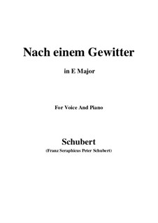 Nach einem Gewitter (After a Thunderstorm), D.561: E Major by Franz Schubert