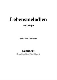 Lebensmelodien (Melodies of Life), D.395 Op.111 No.2: For voice and piano (G Major) by Franz Schubert