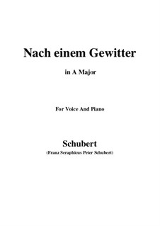 Nach einem Gewitter (After a Thunderstorm), D.561: A Major by Franz Schubert
