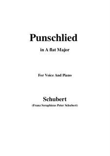 Punschlied (On Drinking Punch), D.253: A flat Major by Franz Schubert