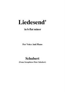 Liedesend, D.473: B flat minor by Franz Schubert