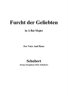 Furcht der Geliebten (An Cidli), D.285: For voice and piano (A flat Major) by Franz Schubert