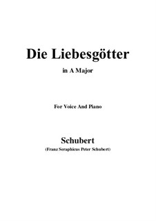 Die Liebesgötter (Gods of Love), D.446: A Major by Franz Schubert