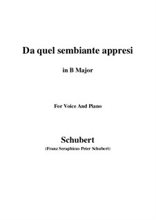 Four Canzones for Voice and Piano, D.688: No.3 Da quel sembiante appresi (B Major) by Franz Schubert