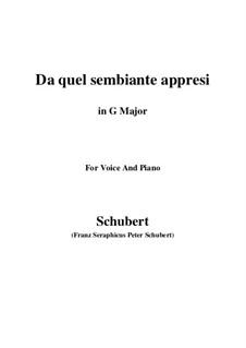 Four Canzones for Voice and Piano, D.688: No.3 Da quel sembiante appresi (G Major) by Franz Schubert
