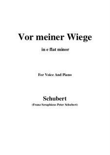 Vor meiner Wiege (Before My Cradle), D.927 Op.106 No.3: E flat minor by Franz Schubert