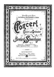 Piano Concerto No.1 in B Minor, Op.4: Version for two pianos four hands by Bernhard Stavenhagen