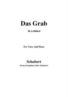 Das Grab (The Grave), D.330: A minor by Franz Schubert