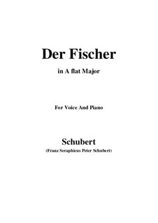 Fisherman, D.225 Op.5 No.3: For voice and piano (A flat Major) by Franz Schubert