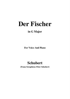 Fisherman, D.225 Op.5 No.3: For voice and piano (G Major) by Franz Schubert