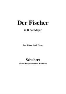 Fisherman, D.225 Op.5 No.3: For voice and piano (D flat Major) by Franz Schubert