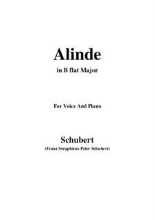 Alinde, D.904 Op.81 No.1: B flat Major by Franz Schubert