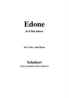 Edone, D.445: B flat minor by Franz Schubert