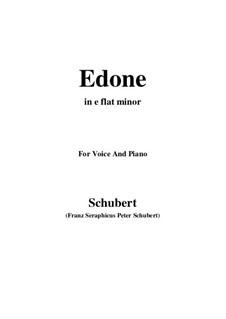 Edone, D.445: E flat minor by Franz Schubert
