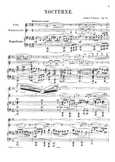 Nocturne for Flute, French Horn and Piano, Op.31: Full score by Rudolf Tillmetz
