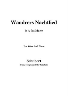 Wanderer's Night Song I, D.224 Op.4 No.3: For voice and piano (A flat Major) by Franz Schubert
