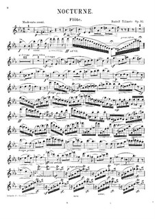 Nocturne for Flute, French Horn and Piano, Op.31: Flute part by Rudolf Tillmetz