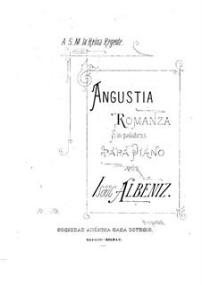 Angustia: For a single performer by Isaac Albéniz