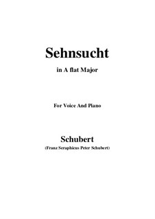 Sehnsucht (Longing), D.516 Op.8 No.2: For voice and piano (A flat Major) by Franz Schubert