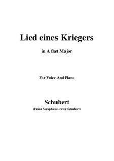 Lied eines Kriegers (Warrior's Song), D.822: A flat Major by Franz Schubert