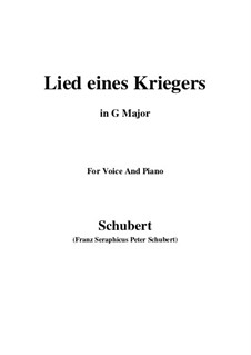 Lied eines Kriegers (Warrior's Song), D.822: G Major by Franz Schubert