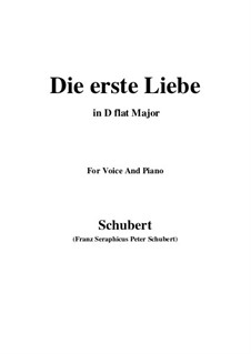Die Erste Liebe (First Love), D.182: D flat Major by Franz Schubert