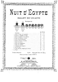 Egyptian Nights, Op.50: For piano four hands by Anton Arensky