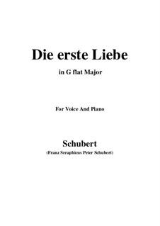 Die Erste Liebe (First Love), D.182: G flat Major by Franz Schubert