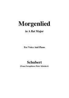 Morgenlied (Morning Song), D.381: A flat Major by Franz Schubert