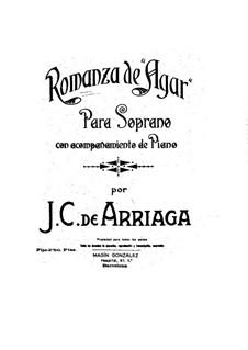 Romanza de 'Agar': Romanza de 'Agar' by Juan Crisóstomo de Arriaga