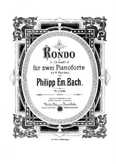 Sonata for Keyboard in B Minor: Rondo. Arrangement for two pianos four hands by Carl Philipp Emanuel Bach