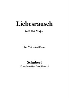 Liebesrausch, D.179: B flat Major by Franz Schubert