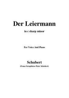 No.24 Der Leiermann (The Organ Grinder): For voice and piano (c sharp minor) by Franz Schubert