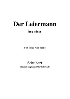 No.24 Der Leiermann (The Organ Grinder): For voice and piano (g minor) by Franz Schubert