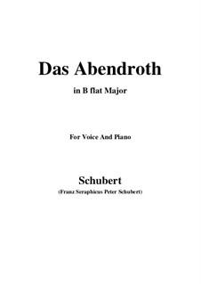 Das Abendrot (Sunset), D.627 Op.173 No.6: B flat Major by Franz Schubert