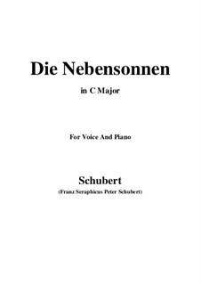 No.23 Die Nebensonnen (The Phantom Suns): For voice and piano (C Major) by Franz Schubert