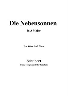 No.23 Die Nebensonnen (The Phantom Suns): For voice and piano (A Major) by Franz Schubert