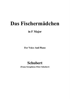 No.10 Das Fischermädchen (The Fisher-Maiden): For voice and piano (F Major) by Franz Schubert