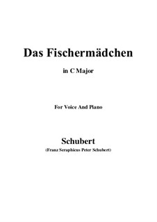 No.10 Das Fischermädchen (The Fisher-Maiden): For voice and piano (C Major) by Franz Schubert